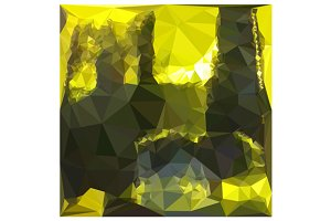 Electric Lime Yellow Abstract