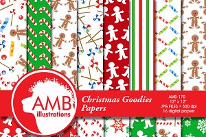 Christmas Gingerbread Papers, 170