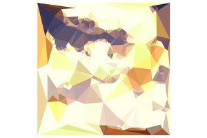 Golden Wheat Abstract Low Polygon