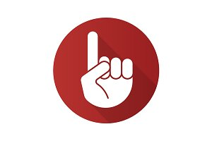 Attention hand gesture icon. Vector