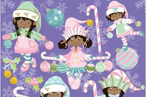 Shabby Chic Elves Clipart, 567