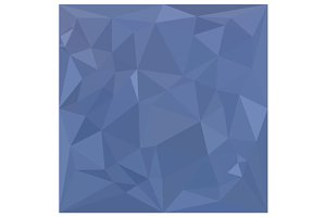 Steel Blue Abstract Low Polygon