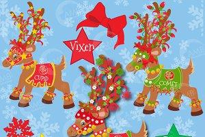 Christmas Reindeer Clipart 2, 384