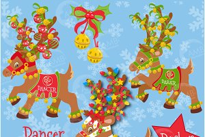 Christmas Reindeer Clipart 1, 383