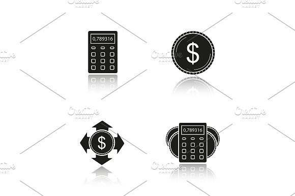 Banking and finance. 4 icons. Vector - Icons