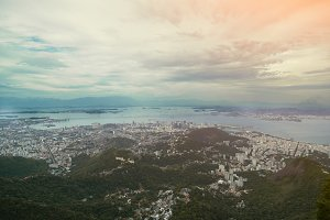 Wide view from top on city, Rio