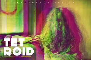 Tetroid Photoshop Action