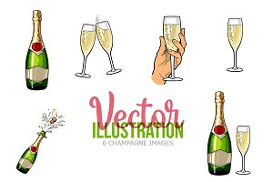 6 Champagne Images Illustration
