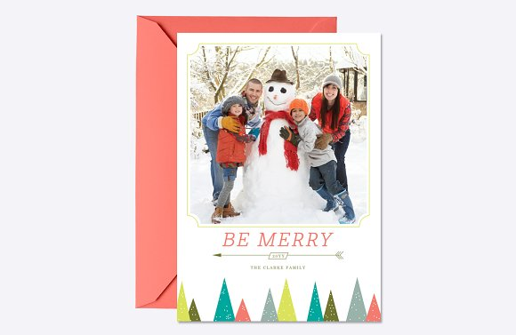 Festive Forest Holiday Card Template