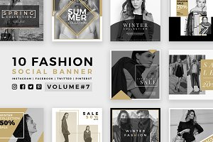 Fashion Social Banner Pack 7