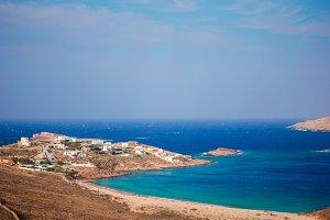Beautiful landscape with sea view, Mykonos island, Greece