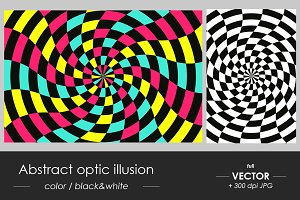 Abstract vector optic illusion