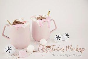 Christmas Styled Mug Mockup (2)