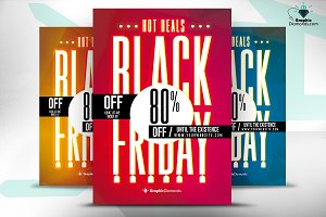 Hot Deals Black Friday Flyer