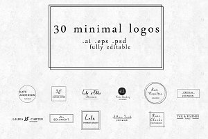 30 minimal logo designs