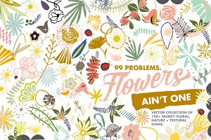 Quirky Floral Vector Collection