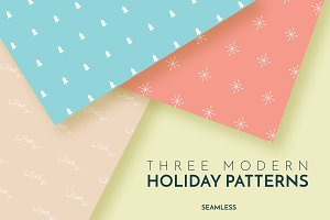 Three Modern Holiday Patterns
