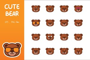 Cute Bear Emoticon
