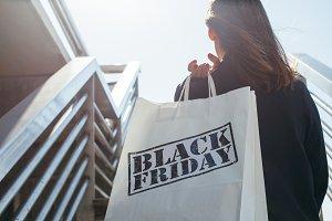 Shopping bag in sunlight.