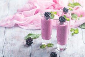 Delicious blackberry smoothie