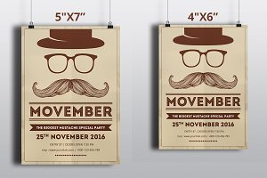 Movember Party Flyer Template-V428
