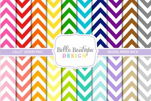 Seamless Thin Chevron Patterns