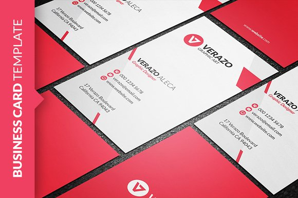 Clean vertical business card business card templates creative market spiritdancerdesigns Gallery