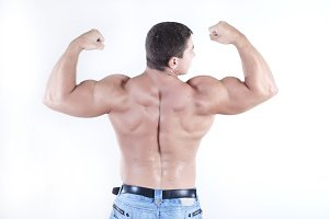 man athlete with perfect body