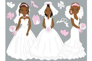 Vector African American Brides