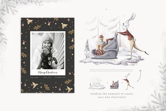 Vintage Christmas Illustrations.Vintage Christmas Collection