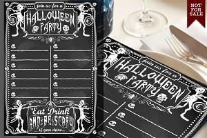 Vintage Blackboard for Halloween