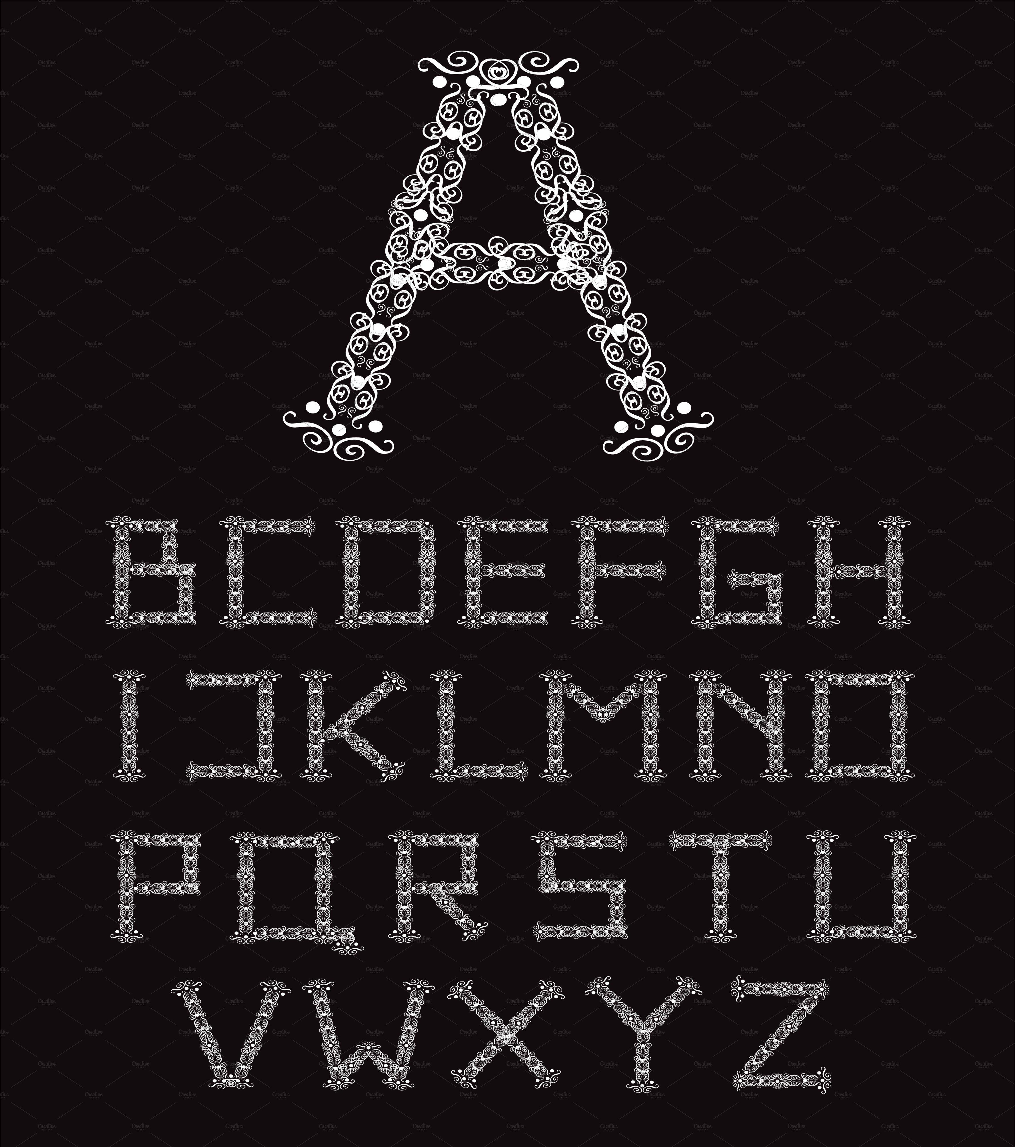 ornament fonts alphabet a z black fonts creative market
