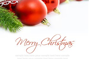Merry christmas card. Space for text