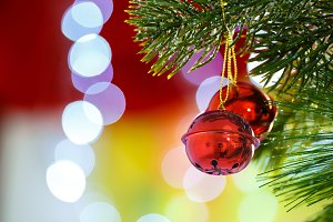 Jingle bells on Christmas tree
