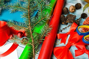 materials for handmade christmas decoration