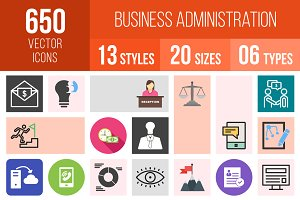 650 Business Administration Icons