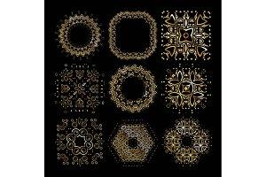 9 Gold mandala