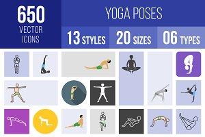 650 Yoga Poses Icons