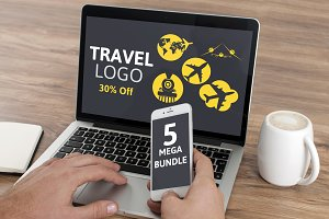 5 Pcs Travel Logo (30% Off)
