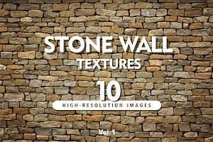 10 Hi-Res STONE WALL TEXTURES Vol.1