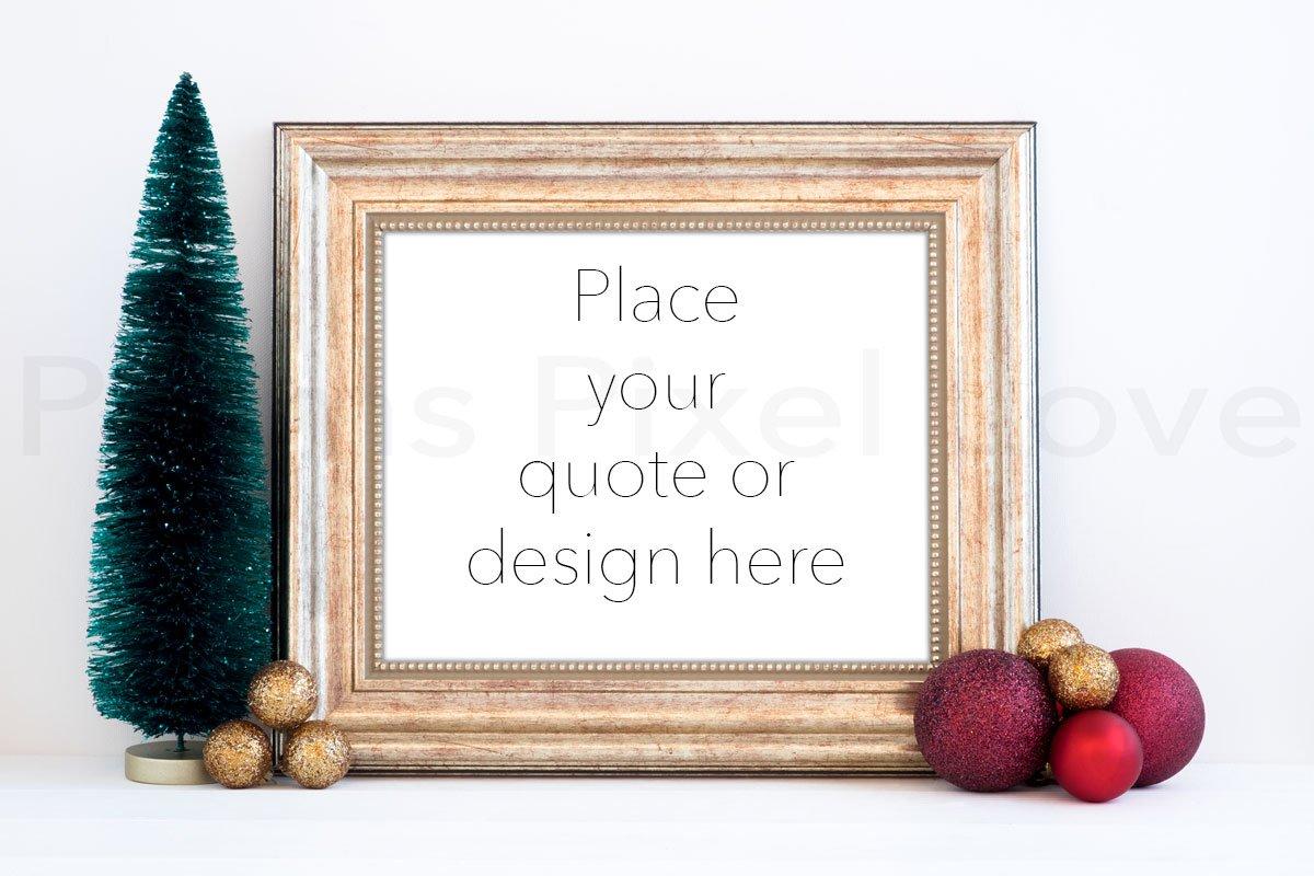 6f204eb0c5db Christmas styled gold frame mockup ~ Print Mockups ~ Creative Market