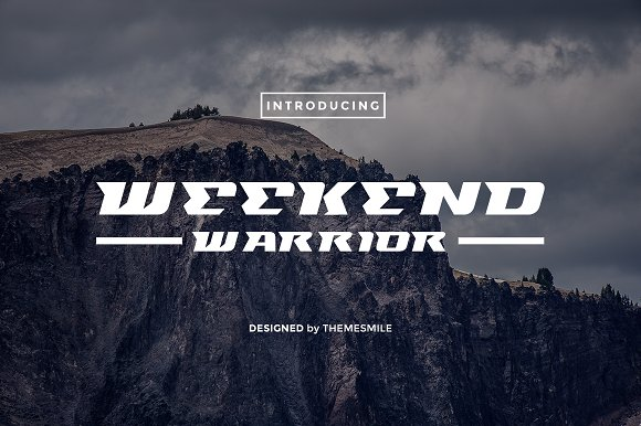 Weekend Warrior Sans Serif Font