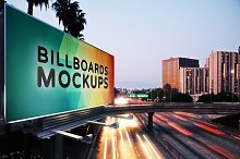Billboards Mockups at Night Vol.1