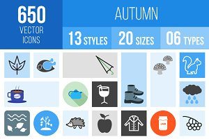 650 Autumn Icons