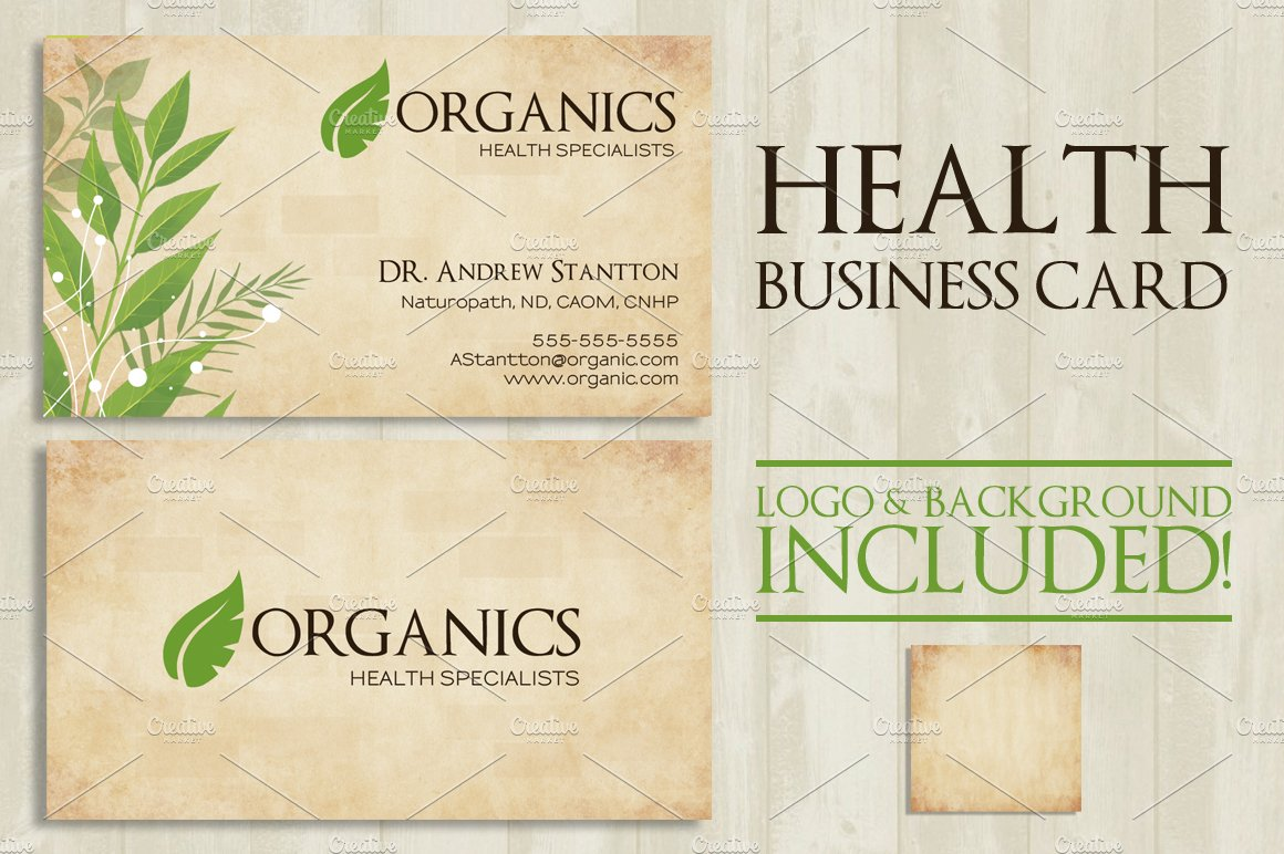 Health Business Card ~ Business Card Templates ~ Creative Market