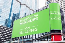 Billboards Mockups on Building Vol.1