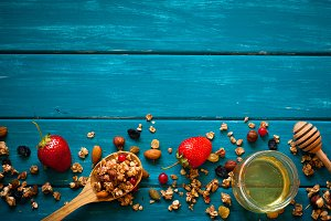 Granola food background