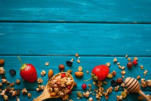 Granola food background