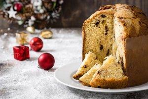 Christmas cake panettone