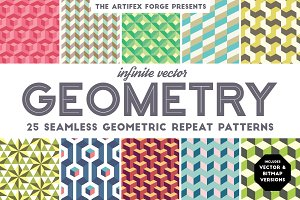 Infinite Vector Geometry Patterns